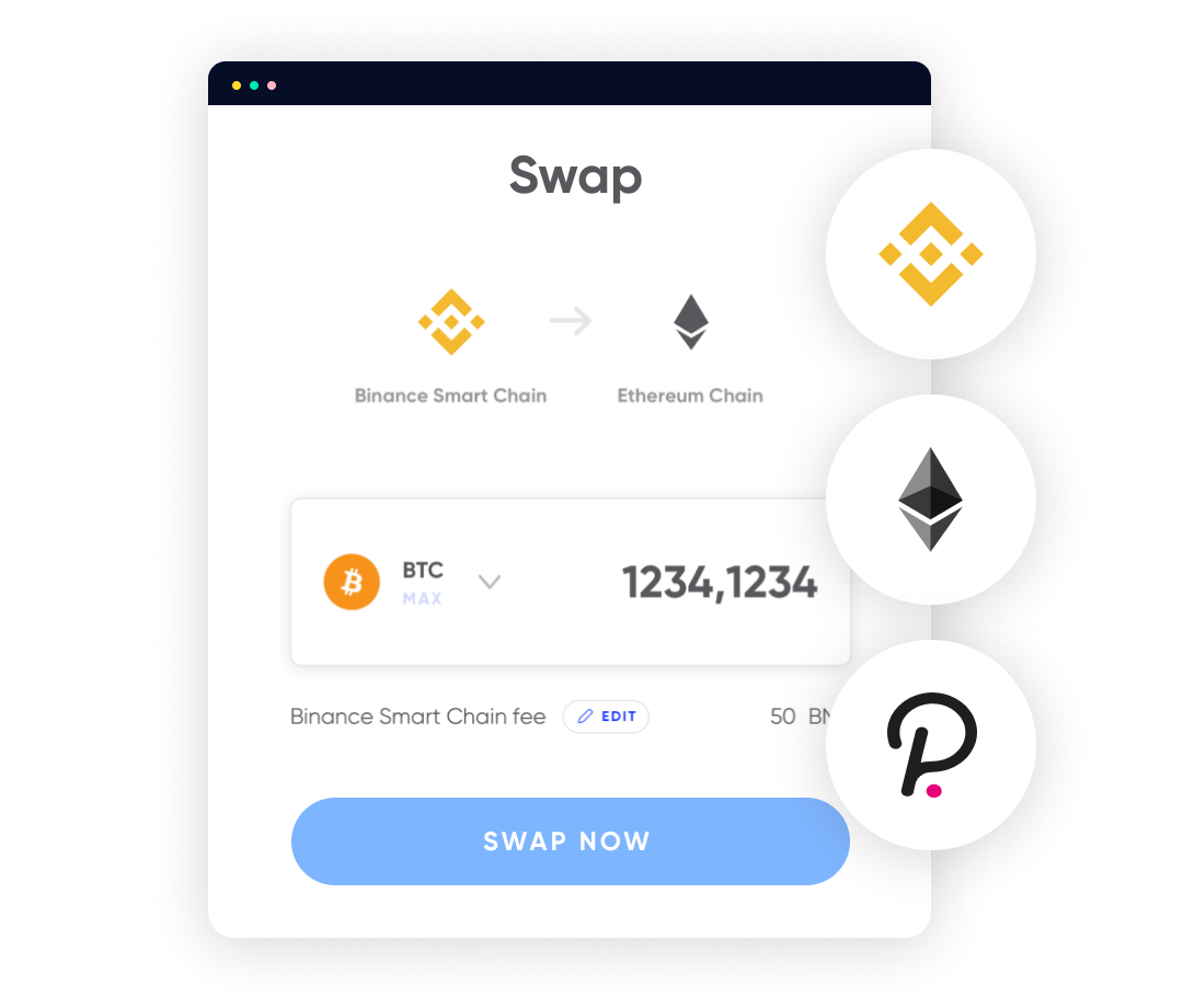 Our custom built cross-chain swap functionality.